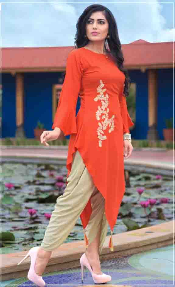 SUF AAYAN 01-D NO 2 WOMEN KURTI WITH DHOTI PANT