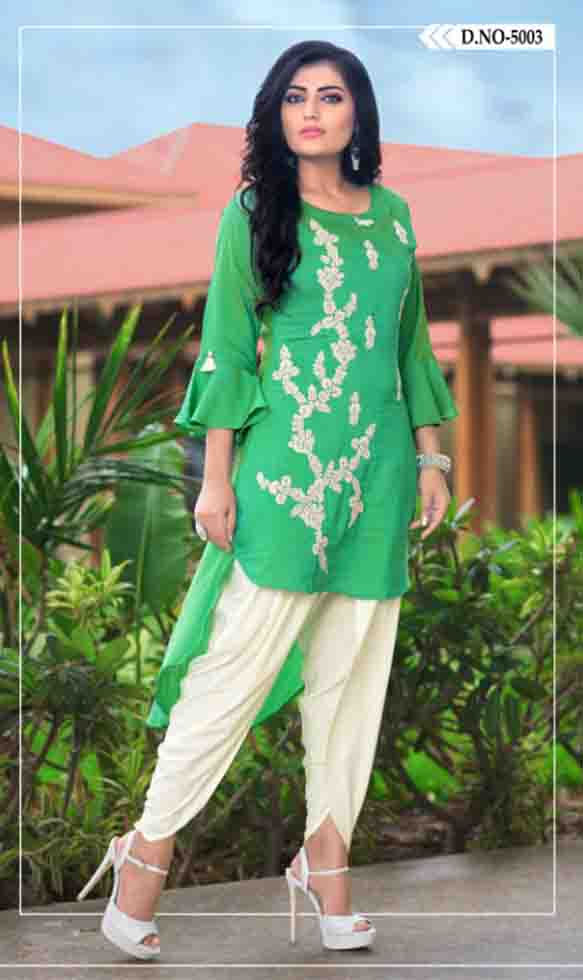 SUF AAYAN 01-D NO 3 WOMEN KURTI WITH DHOTI PANT