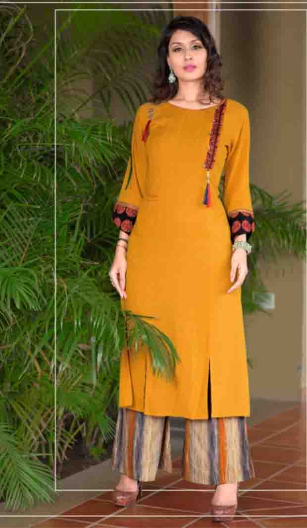 SUF AAYAN 01-D NO 5 WOMEN KURTI WITH RAYON PALAZO