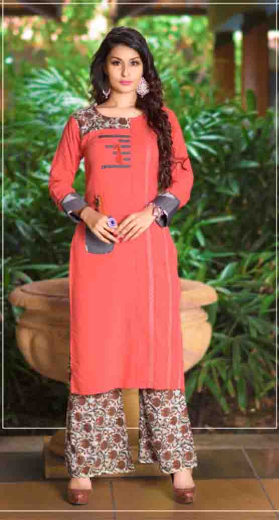 SUF AAYAN 01-D NO 4 WOMEN KURTI WITH RAYON PALAZO