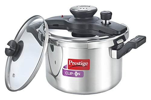 Stainless steel prestige clip on  5 liter cooker