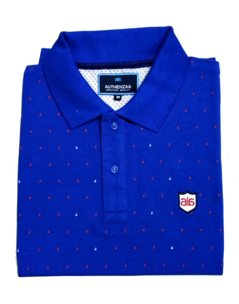 AI A 113-ROYAL BLUE POLO T SHIRT