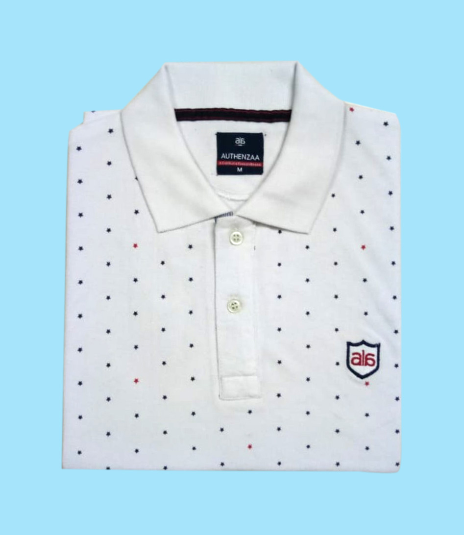 AI A 114 WHITE POLO T SHIRT