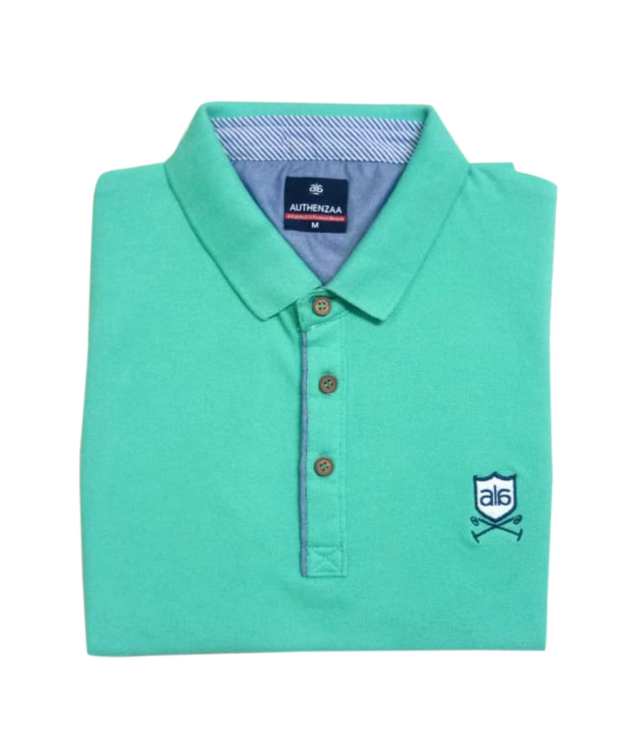 AI F 120-SEA GREEN POLO T SHIRT