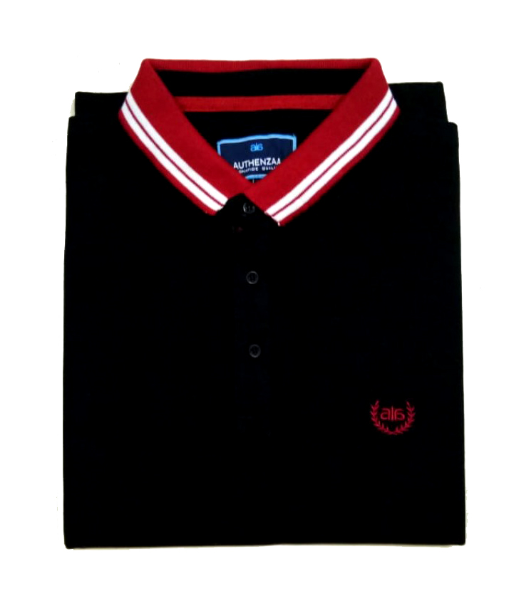 AI B 123-BLACK POLO T SHIRT