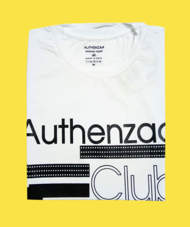 AI L 102-WHITE ROUND NECK T SHIRT