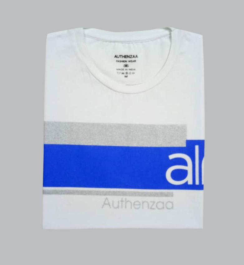 AI L 105-WHITE ROUND NECK T SHIRT