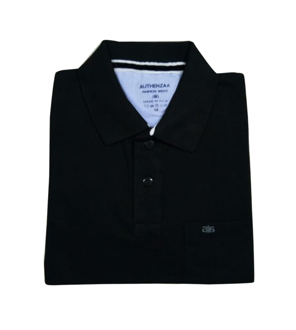 AI P 124-BLACK POLO T SHIRT
