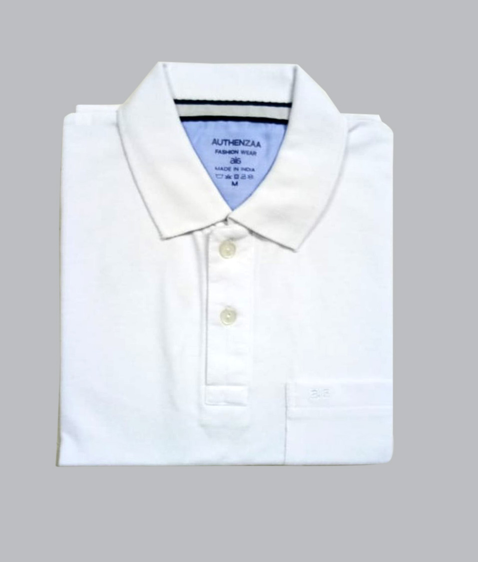 AI P 124-WHITE POLO T SHIRT
