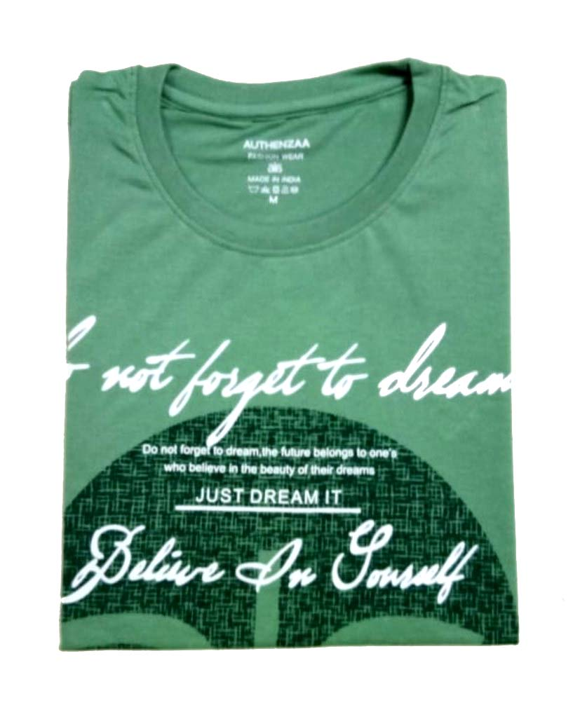 AI S 108-GREEN ROUND NECK T SHIRT