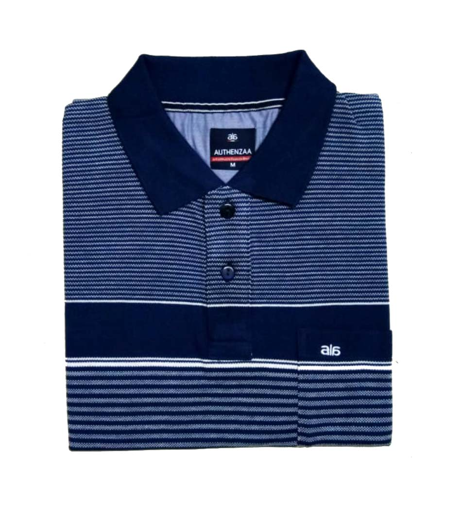 AI ST 135-NAVY POLO T SHIRT