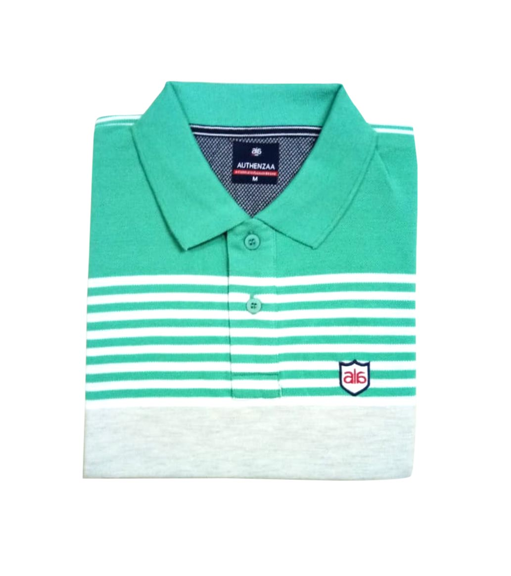 AI ST 137-SEA GREEN POLO T SHIRT