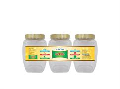 Anna Pet Jar 1000 Ml (Set of 3 pcs )-UTIC