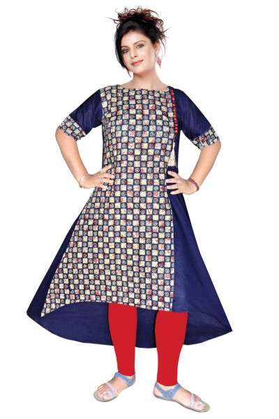 AriFash 01 - K18 Navy Cotton Stiched Kurti