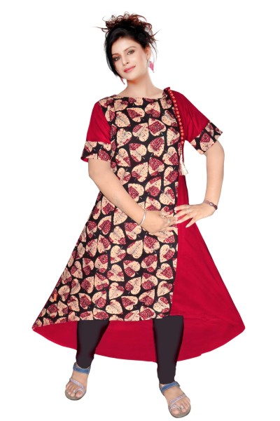 AriFash 01 - K19 Maroon Cotton Stiched Kurti