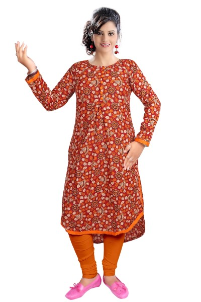 AriFash 01 - K4 Maroon Cotton Stiched Kurti
