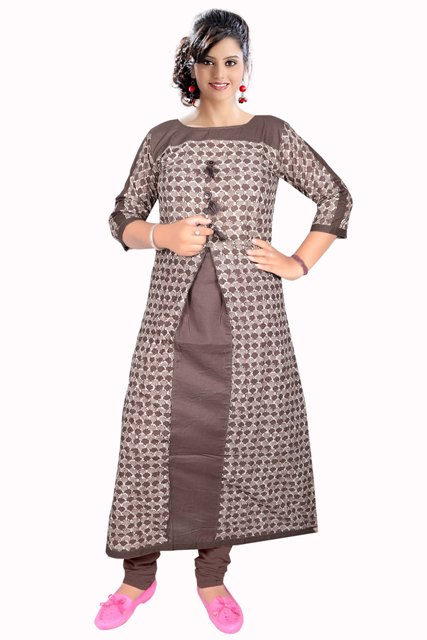 AriFash P2 - D1 Brown Stitched Kurti