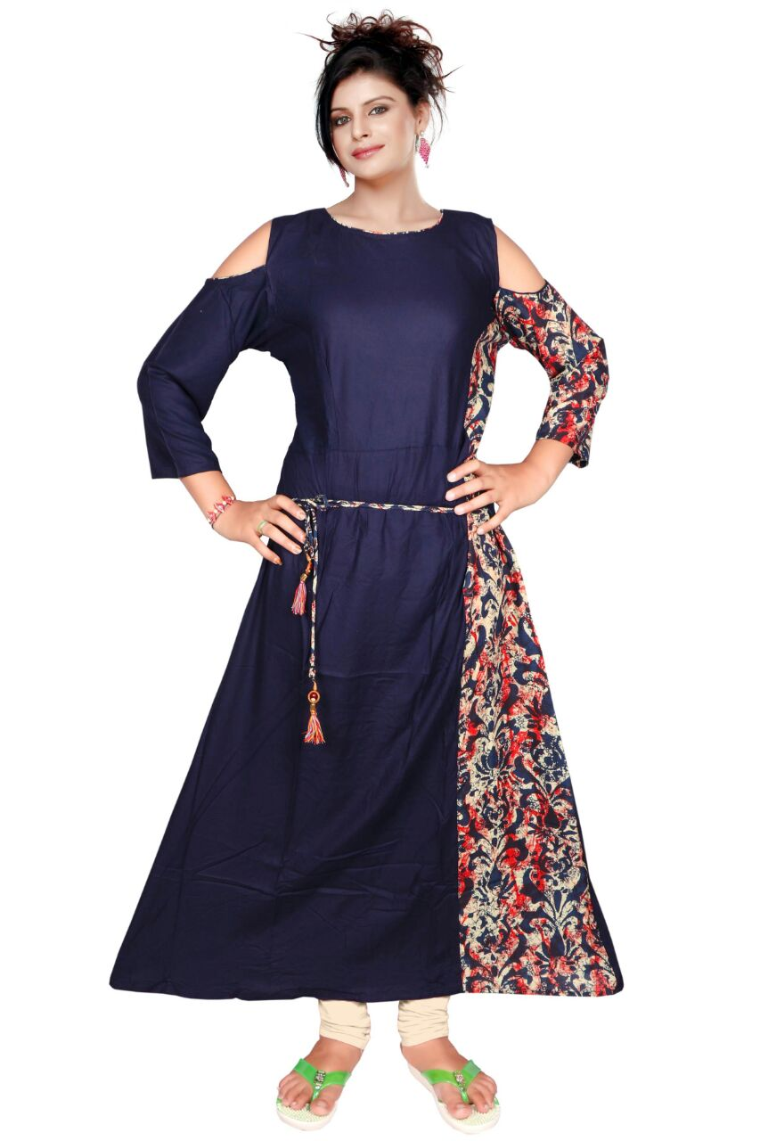 AriFash P6 - Navy 1 Stitched Cotton Kurti