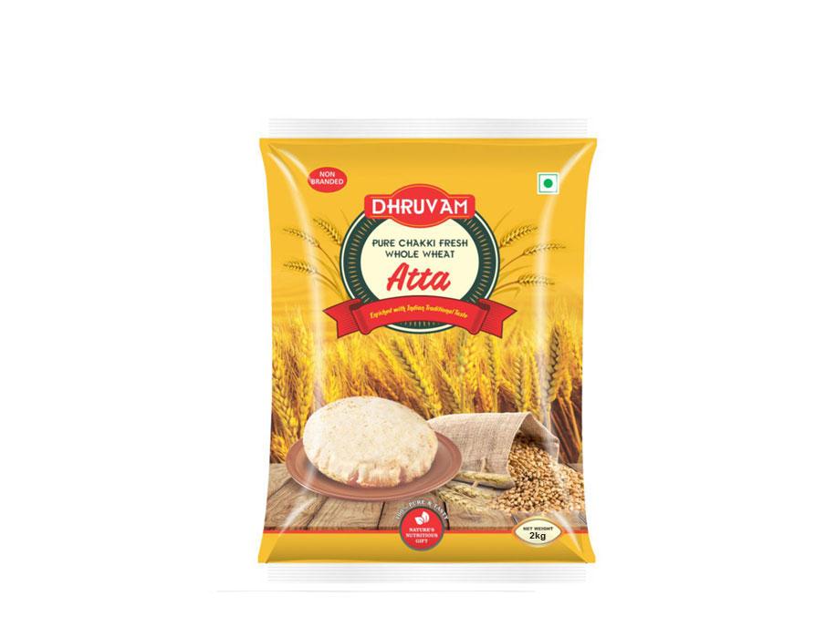 Dhruvam Chakki Fresh Atta(2kg)
