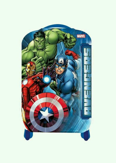 "(18"") Avengers Print Kids Trolley Bag - Blue"