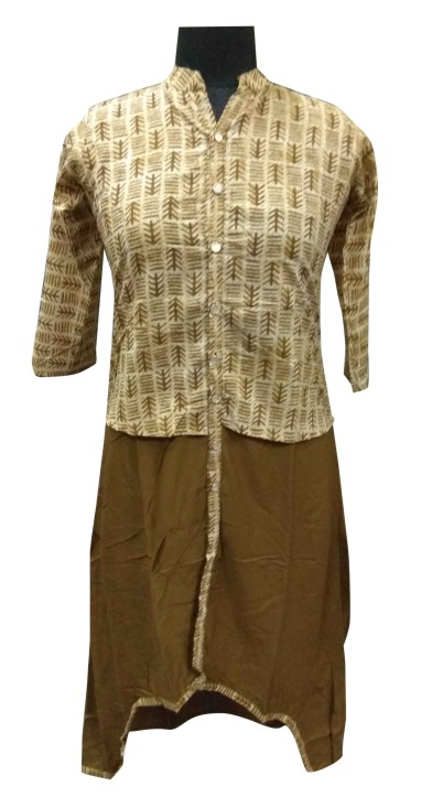 AviFash SHRUSHTI - Light Brown Stitched Kurti