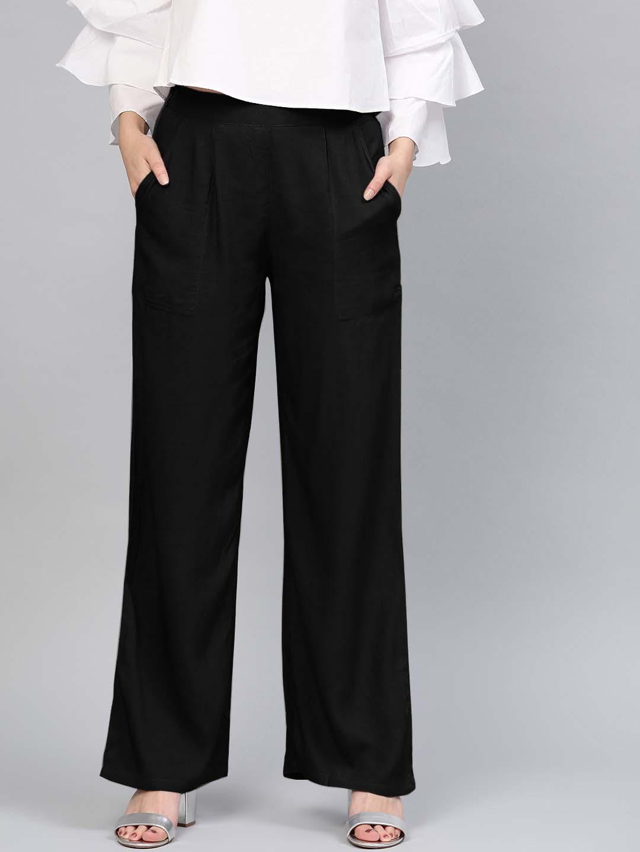 BELT PANT 01-BLACK WOMEN PANT
