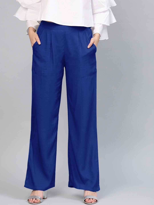 BELT PANT 01-DARK BLUE WOMEN PANT