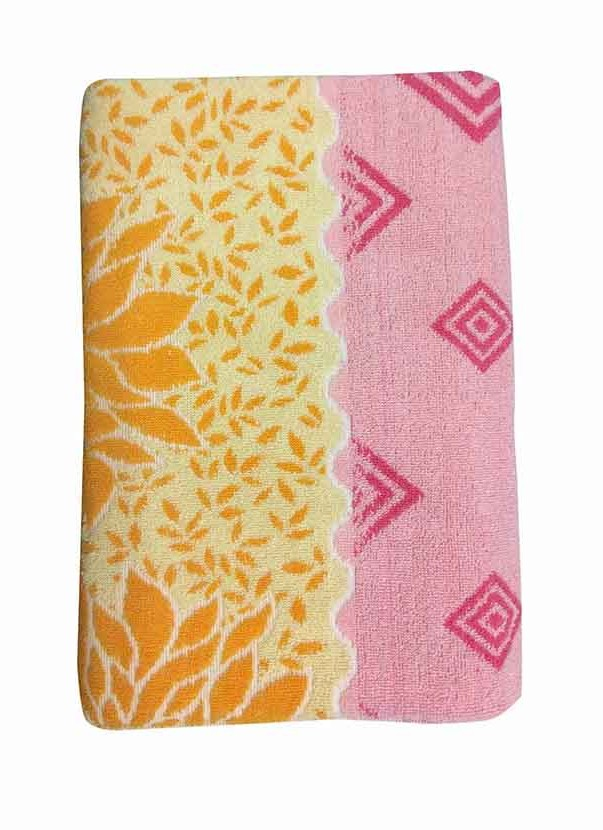 BLOSSOM 1-PINK/YELLOW-COTTON TERRY TOWEL