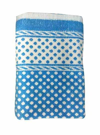 BLOSSOM 3-BLUE-COTTON TERRY TOWEL