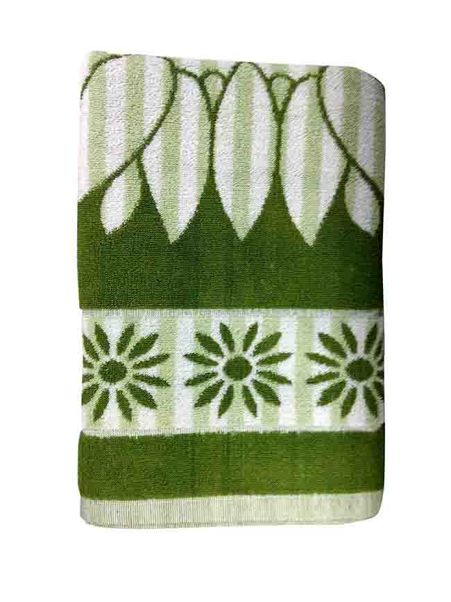 BLOSSOM 4-GREEN-COTTON TERRY TOWEL