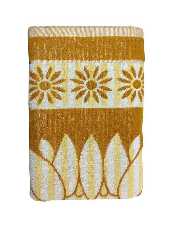BLOSSOM 4-MUSTURD-COTTON TERRY TOWEL