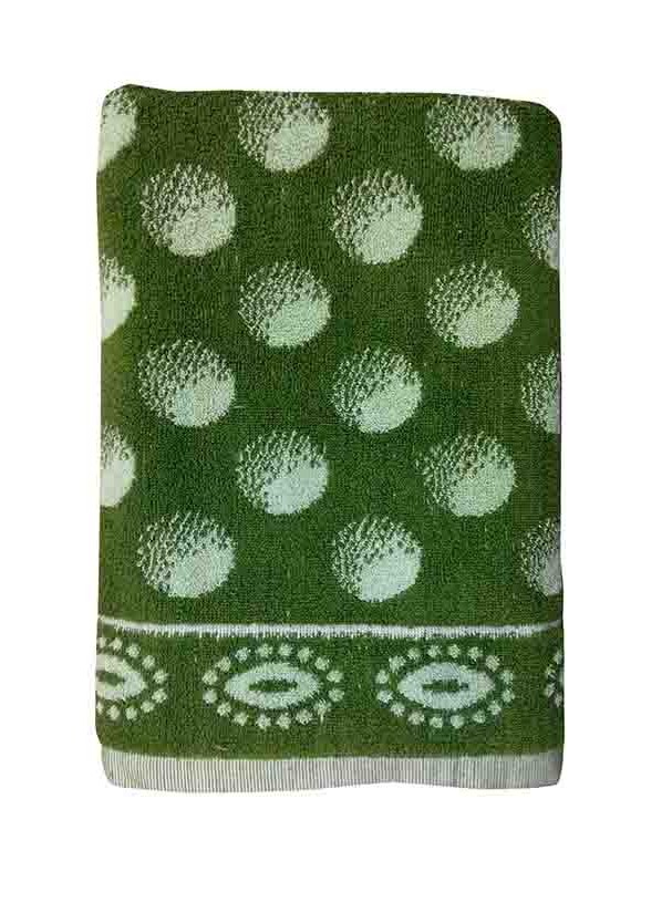 BLOSSOM 5-GREEN-COTTON TERRY TOWEL