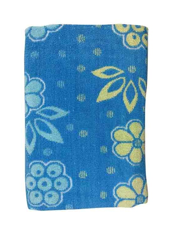 BLOSSOM 7-BLUE-COTTON TERRY TOWEL