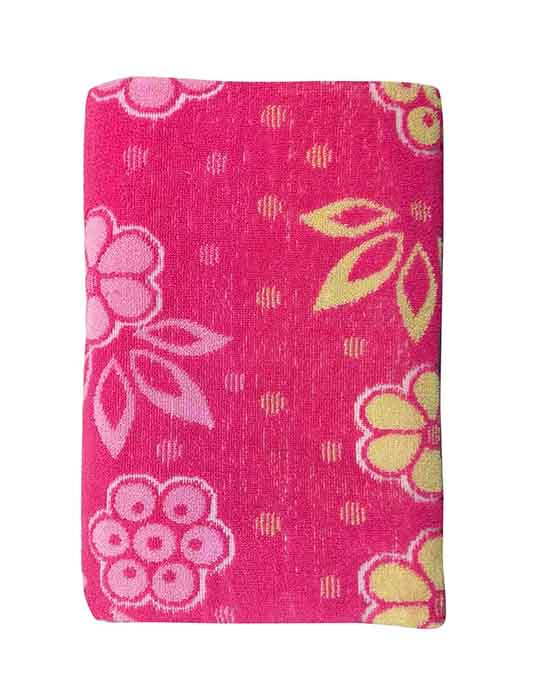 BLOSSOM 7-PINK-COTTON TERRY TOWEL