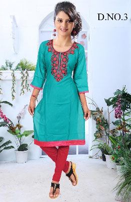 AF BLUE BIRD 01-D NO 3 STYLISH WOMEN KURTY