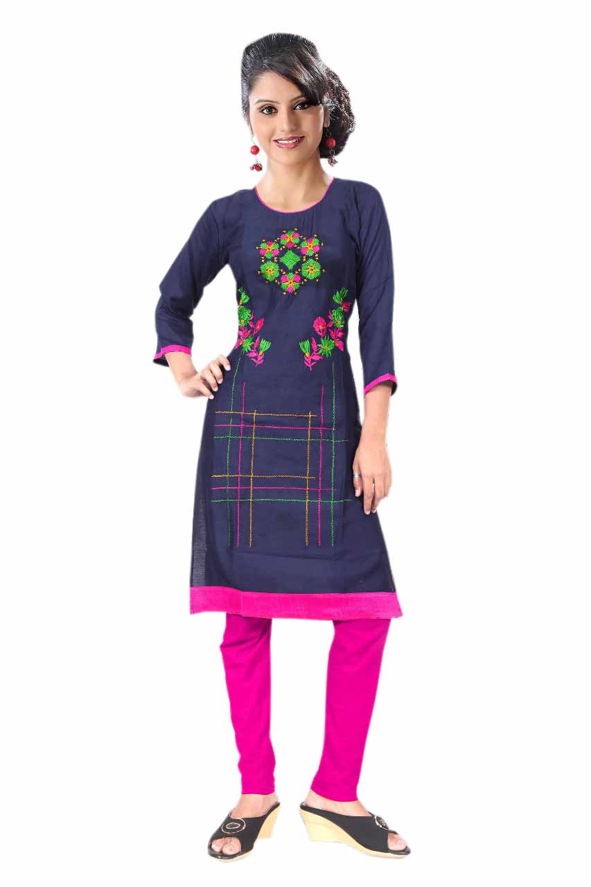 BLUE BIRD D NO 6-NAVY Stitched Kurti