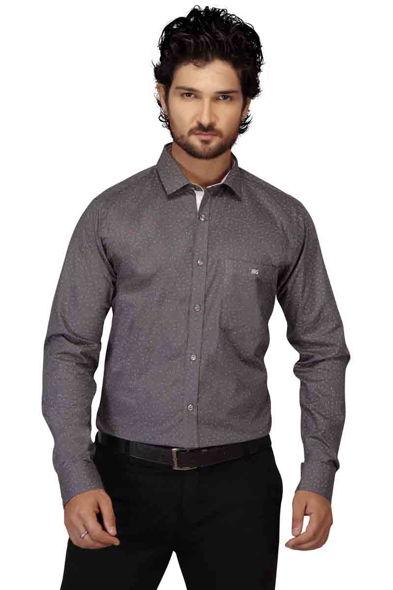 BR 01-D GRAY DOT FORMAL SHIRT