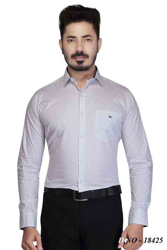 BT 1878-WHITE SQUARE FORMAL SHIRT