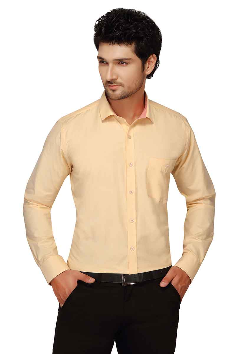 BT FDOGL-LIGHT YELLOW FORMAL SHIRT
