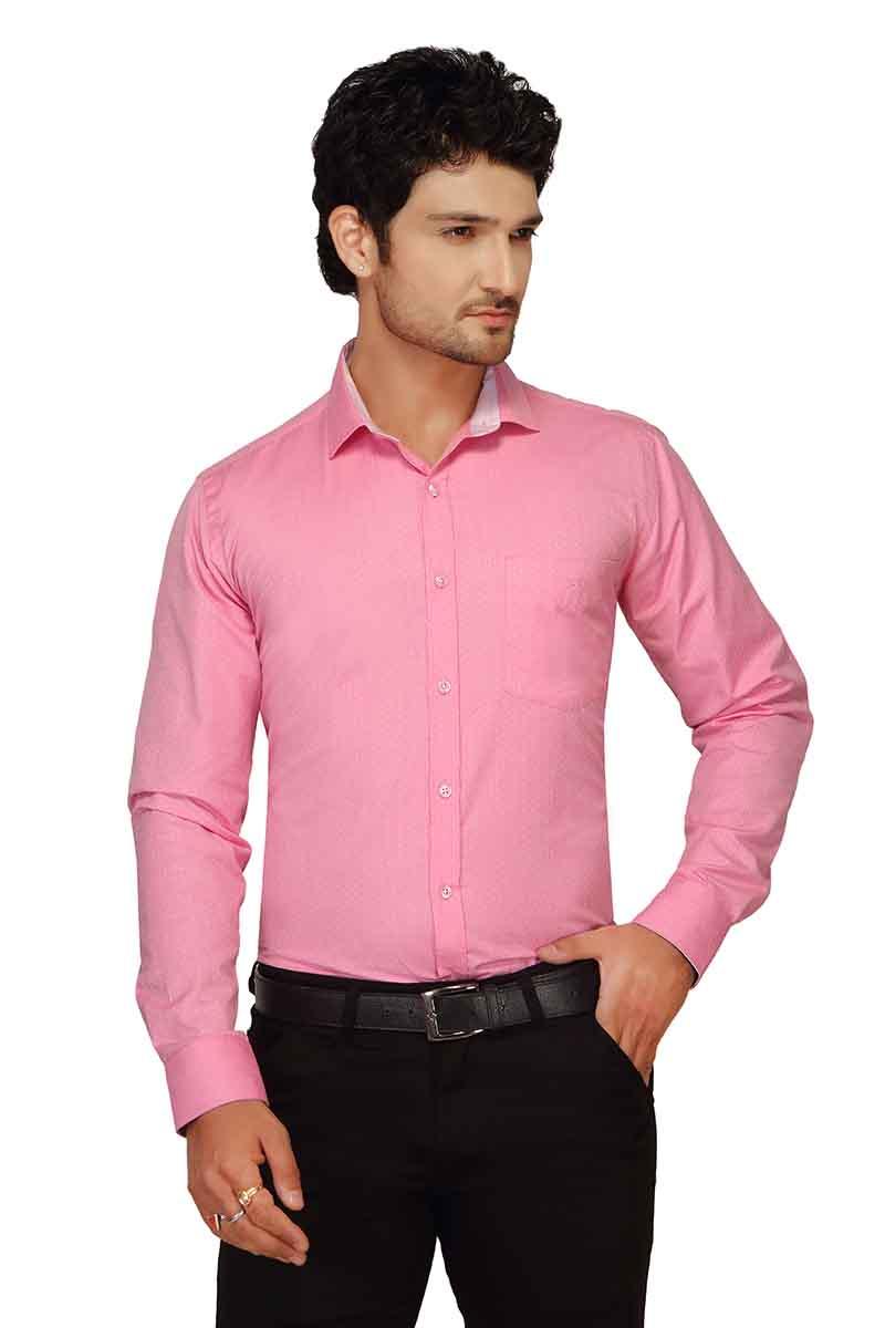 Pink & Blue Checks Formal Shirt - NE