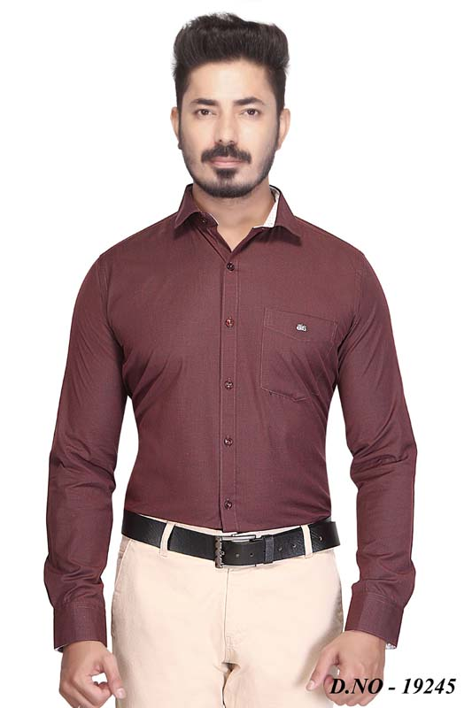 BT GALILIO-MAROON FORMAL SHIRT