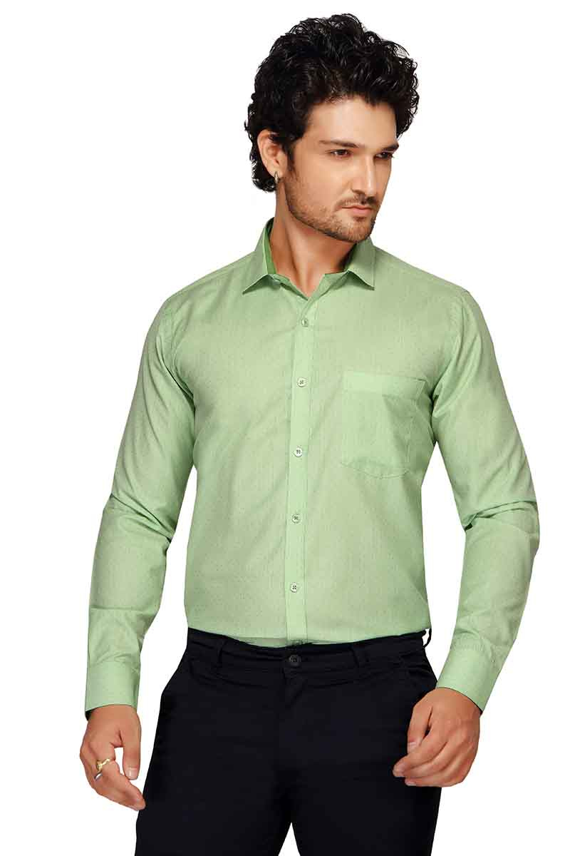 BT GALLILED-GREEN FORMAL SHIRT