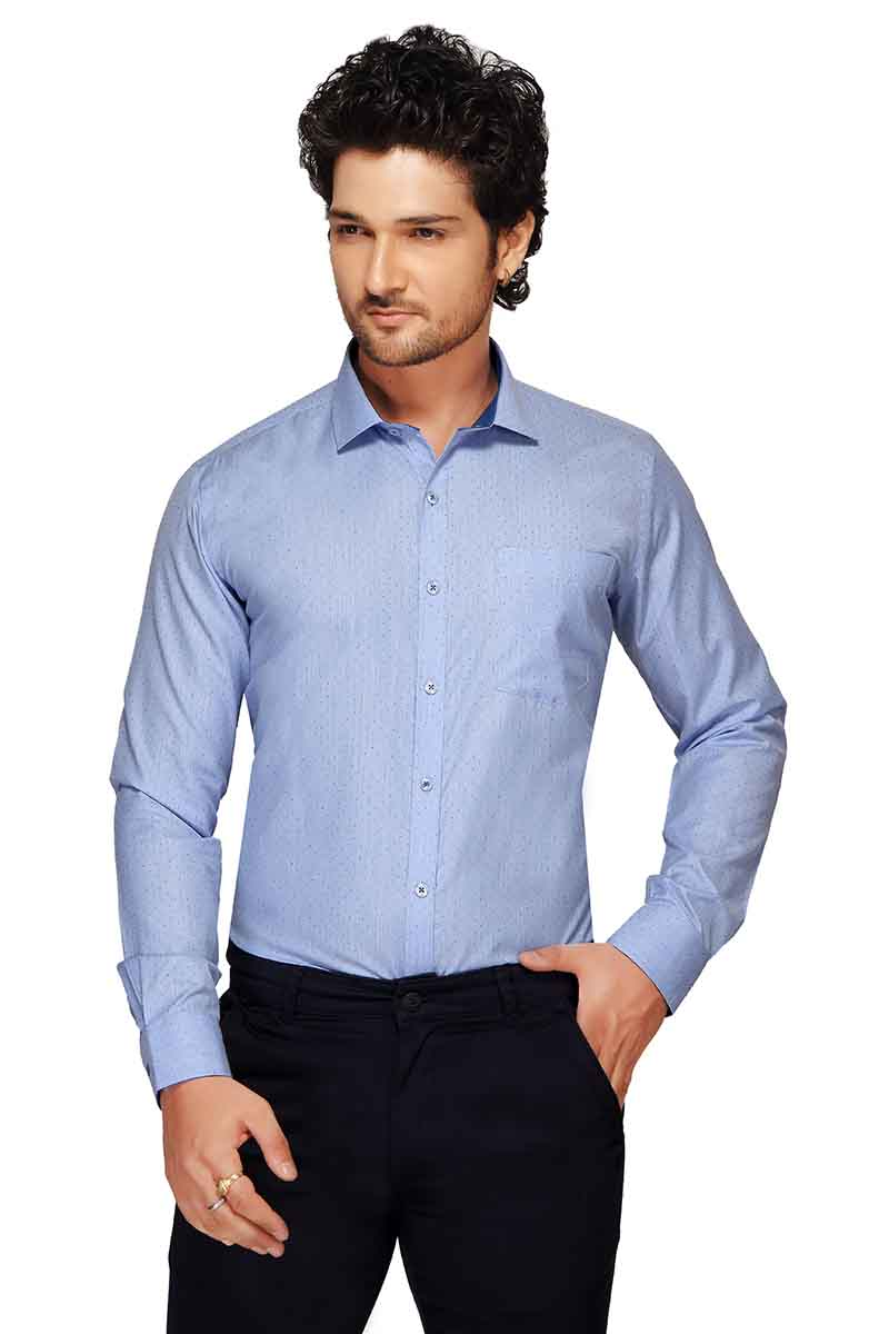 BT GALILIO-BLUE   FORMAL SHIRT