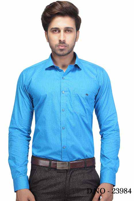 BT HARDIK 02-BLUE FORMAL SHIRT