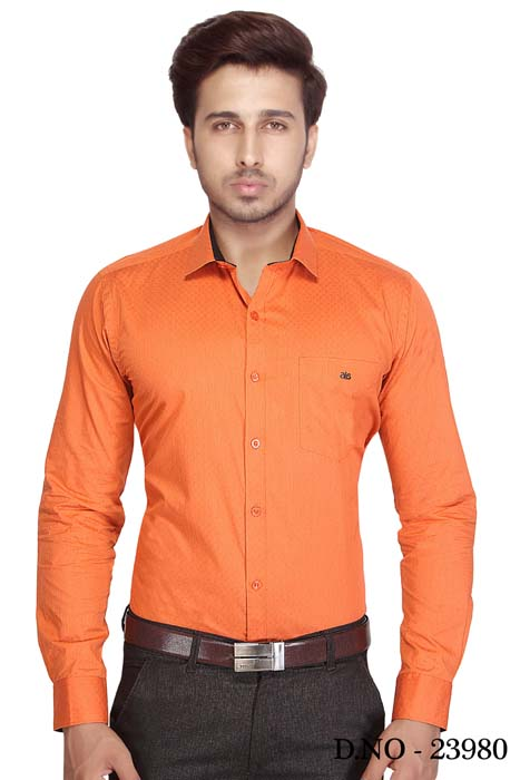BT HARDIK 02-ORANGE  FORMAL SHIRT