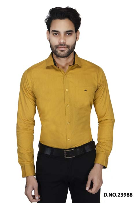 BT HARDIK 02-YELLOW FORMAL SHIRT