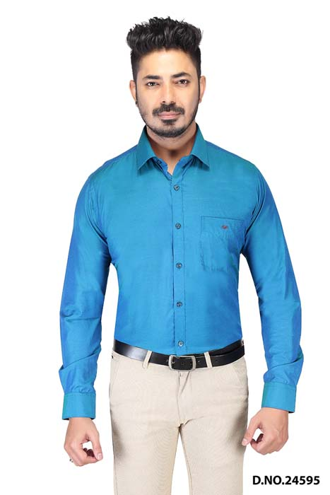 BT HARDIK 03-BOTTLE GREEN FORMAL SHIRT