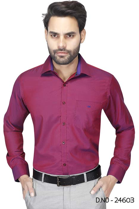 BT HARDIK 03-DARK MAROON FORMAL SHIRT