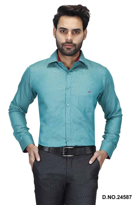 BT HARDIK 03-GREEN FORMAL SHIRT