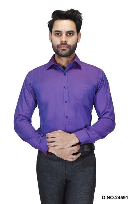 BT HARDIK 03-PURPLE FORMAL SHIRT